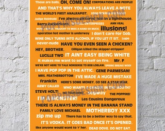 11X17 Arrested Development Quote Poster
