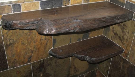 Elegant Single Reclaimed Barn Wood Bathroom Shelves