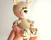 PDF Crochet Pattern, Teddy Bear Pattern, Crochet Tutorial, Amigurumi Bear Pattern - Crochet Bear Pdf Tutorial, Miniature 3.9""