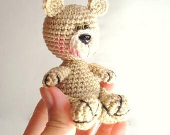 """PDF Crochet Pattern, Teddy Bear Pattern, Crochet Tutorial, Amigurumi Bear Pattern - Crochet Bear Pdf Tutorial, Miniature 3.9"""""""