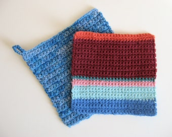 small color block pot holder