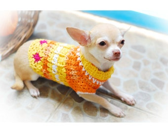 Knit Chihuahua Sweater Extra Small Dog Clothes Cotton Puppy