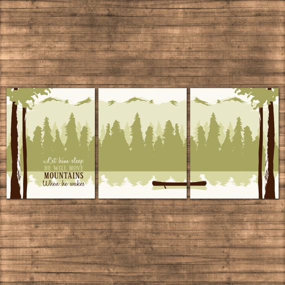 Nursery Wall Art Mountains Outdoor Theme By Invitingmoments