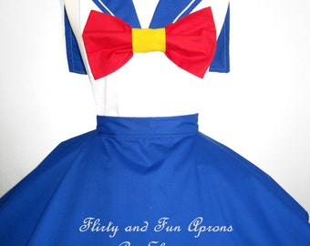 Inspired Cosplay Sailor Moon Costume Apron