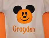 Pumpkin  Mouse Halloween Shirt Boy