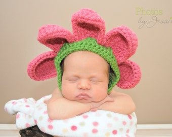 Crochet Baby Bonnet Pattern (with different finishing options) (PDF)