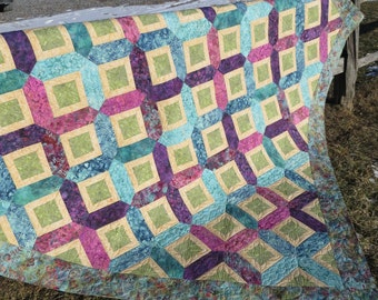 Instant Download - PDF Sewing Pattern -  Trellis Quilt Pattern
