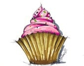 Cupcake marker illustration art print