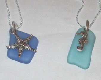 Sea Glass and Sterling Sea Charms- Under the Sea