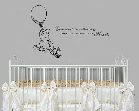 Classic winnie the pooh sometimes the smallest by for Classic winnie the pooh wall mural