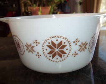 Town and Country Pyrex#473, 1 Quart/ 1 Liter, Vintage, Casserole Dish, Baking Dish, Bowl