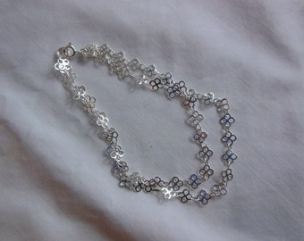 """9""""  Double Silver Chain Anklet or Bracelet"""
