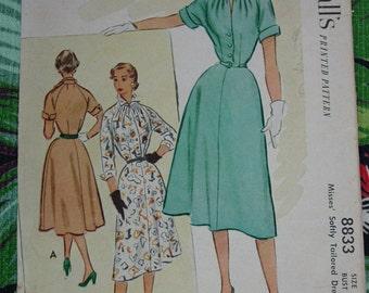 Vintage Pattern c.1952 McCall's No.8833 Dress, Size 12
