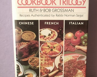 Vintage The New Kosher Cookbook Trilogy, 1963 copyright, Chinese French Italian, 1992, Jewish cookbook, Pittsburgh wedding gift for bride