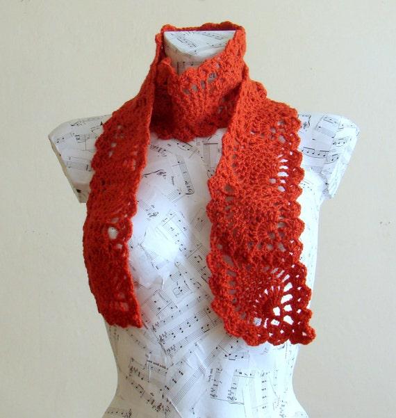 sale handmade crochet pineapple scarf winter accessory