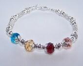 Birthstone Bracelet Mothers bracelet Grandmothers bracelet Swarovski Family BraceletBirthday bracelet