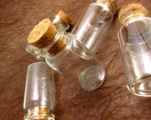 5pcs 42x20mm Clear Glass Bottle Vials with Free Eyehooks