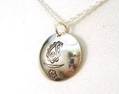 UU Paisley Chalice Sterling Silver Necklace - Zoroastrian UU, Persian UU