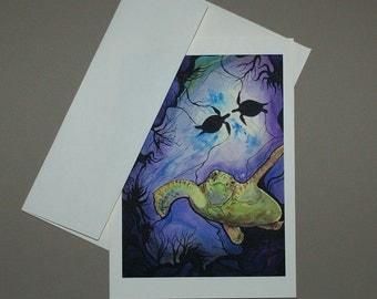 Sea Turtle Card 5 x 7