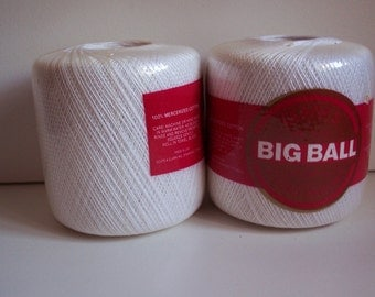 2 balls of crochet thread, size 20