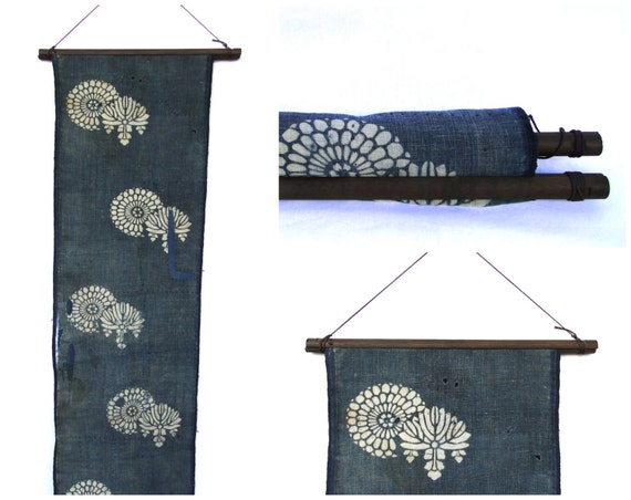 Textile Display Hanger Wooden Fabric Scroll Wall By