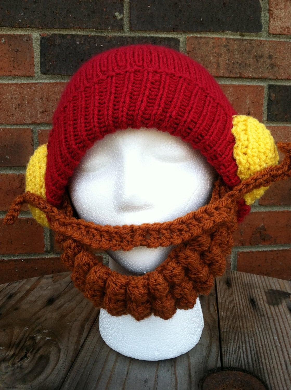 yukon cornelius knit character hat adult ready to ship