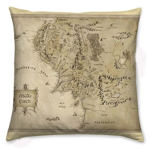 Middle Earth Cushion Pillow The Hobbit Lord Of The By