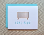cute baby letterpress card