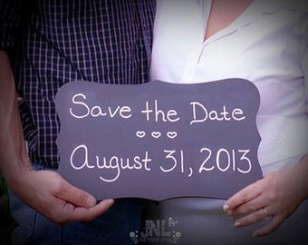 Chalkboard Sign wedding save the date photo prop double sided menu