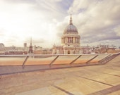 "London photography, Rooftops of London, St. Pauls Cathedral - ""Rooftops of London"""