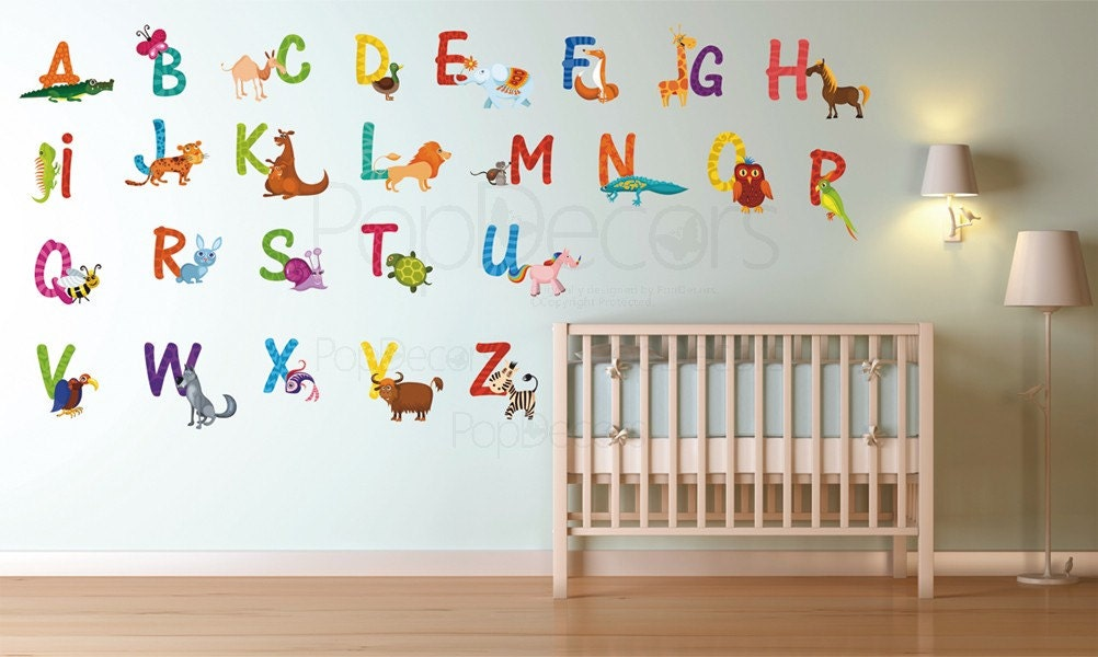 room wall stickers playroom printed wall decals 26