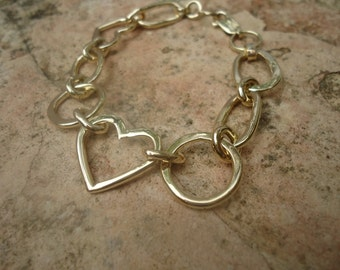 Gold bracelet with large loops