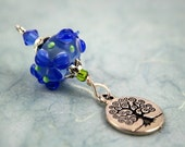 Blessingway bead - Blue River Flower Tree of Life - Mother Blessing bead, mama goddess