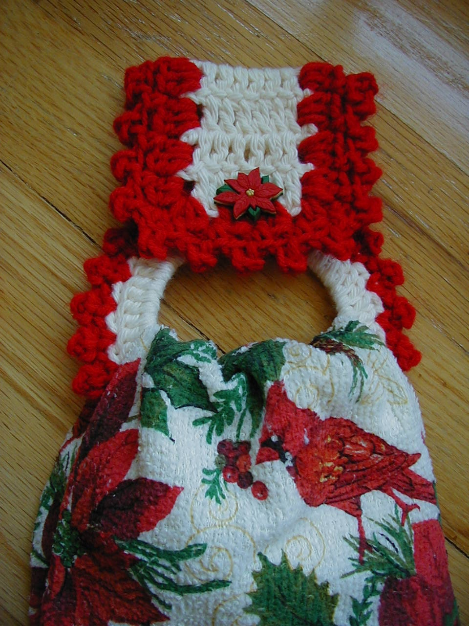 Christmas Crochet Towel Holder With Towel By Longvalleybears