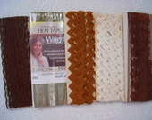 Vintage Lace Trim, Brown Lace, Sewing Trims - Lace And Rick Rack
