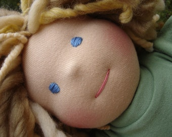 Custom Waldorf Doll DEPOSIT, 12 inch doll, made to order October 2016