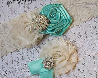 53 DIFFERENT COLORS-Bridal Garter-Ivory Garter Set-Wedding Garter-Lace Garter-Wedding Garter