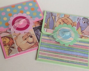 Two baby gift card holders- baby shower, baptism, baby boy