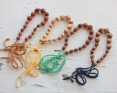 Knotted All Wooden Nursing Necklace / Teething / Breastfeeding Jewelry - CHOOSE YOUR String Color and Wood Type