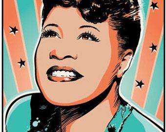 Ella Fitzgerald - Jazz - Pop Art Poster Print - 13 x 19