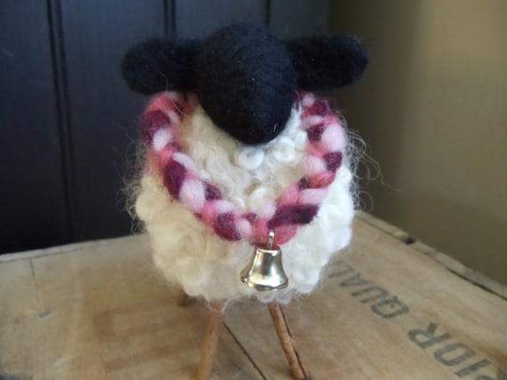 Primitive Curly White Wool Sheep - Fully Fleeced Ewe Etsy Shop