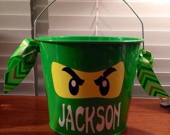 Inspired by Ninjago lego  metal 5qt  bucket