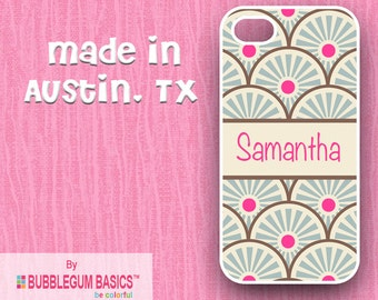 Custom Phone Case iPhone 6 5/5S 4/4S Samsung Galaxy S4 S5 - Asian Inspired Scales Name Band - Monogrammed Personalized