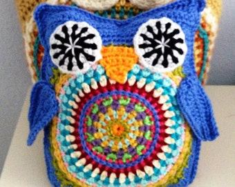 Huggy Hootie Owl PDF Crochet Instant download Pattern Toy Babies Children Boys Girls Plush Softee