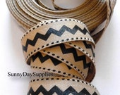 Chevron Twill Fabric Ribbon,  Black Chevron Ribbon,  2 YARDS, 7/8 inch wide,  Chevron Ribbon, Black Tape or Trim tape