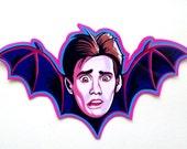 Once Bitten Early Jim Carrey 7in x 4in Gloss Laminate Sticker 1985