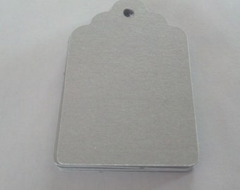 30 Metallic Silver Tag Punches Die Cuts Embellishments
