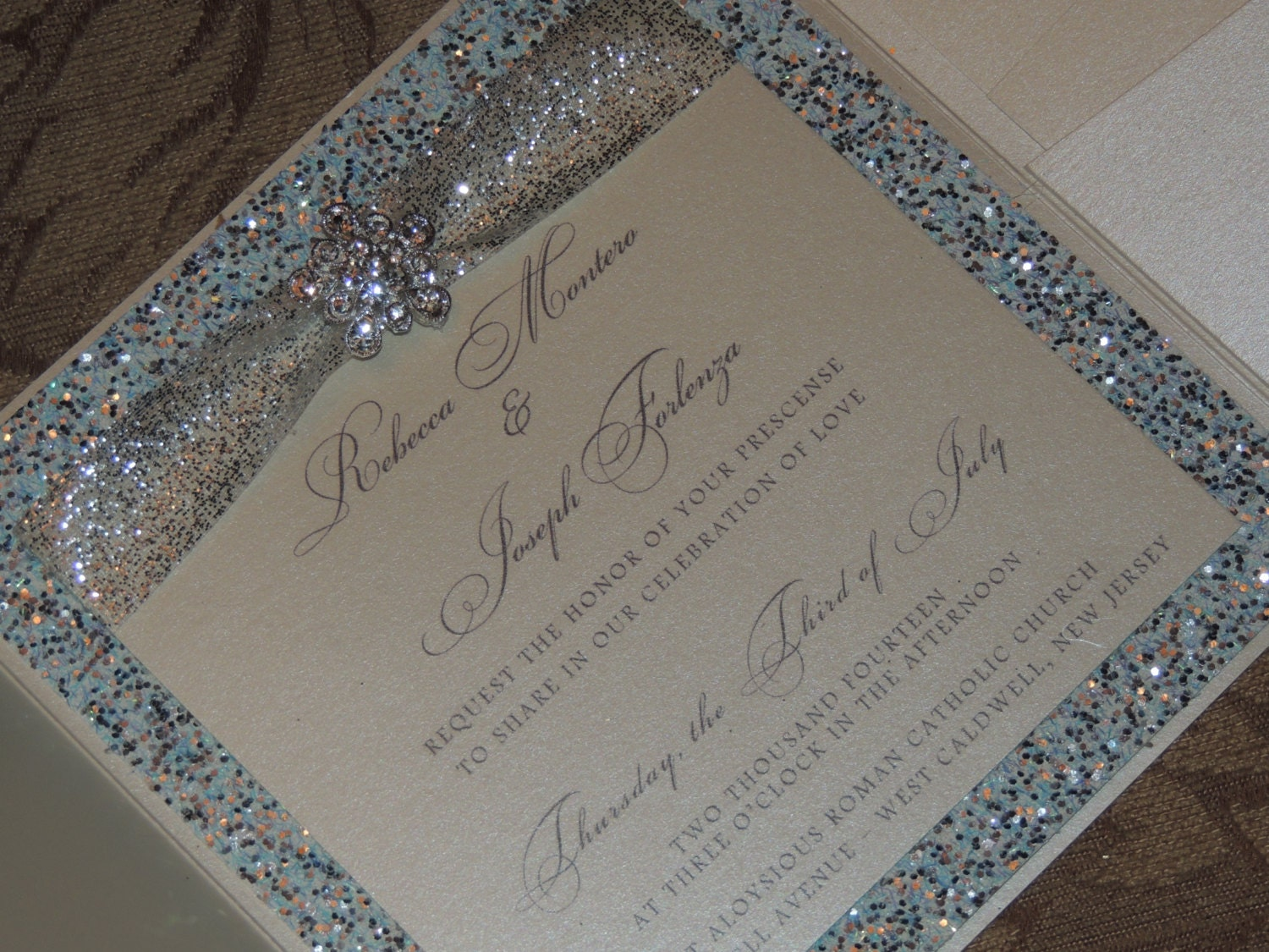 Frozen Inspired Wedding Invitation Winter Wedding Invitation