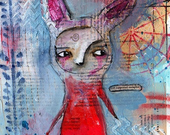 That Supported Metaphor - Original Mixed Media painting