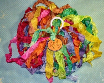 Hand Dyed Ribbon - Ribbon Rainbow No.46